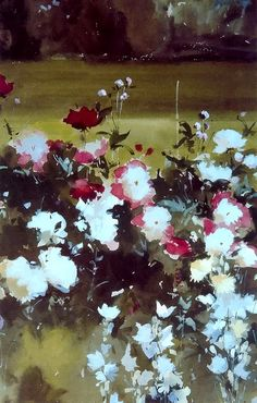 Художник John Yardley Artist Painting, Watercolour Painting, Watercolor Flowers, Watercolors, Art Floral, Winslow Homer, Andrew Wyeth, Bouquet, Botanical Drawings