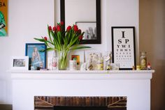 Mantelpiece / Home of Lucy Glade-Wright / The Design Files Feature