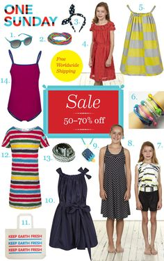 One Sunday: Super Cool Tween To Teen Girls Fashion & Accessories On Sale Up To 70% Off