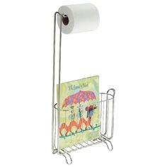 Tidningsställ och Toalettpappershållare - Polerat stål - Bosign