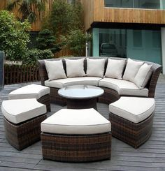 Ohana Depot Patio Outdoor Wicker Sofa Furniture Factory Direct Prices Outdoor Dining Deep Seating Sofa Couch Furniture