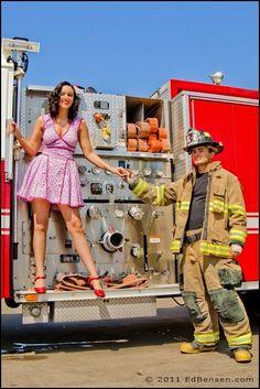 Ed Bensen Photography, Firefighter Engagement Photos