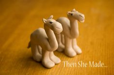 Then she made...: Nativity - Camel