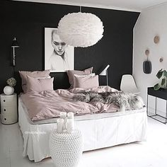 Love the gorgeous bedroom of @mittlillehjerte Vita Eos light shade and Ferm Living Plant Box available to order online ✨ . Good night all! . #bedroom #bedroomdecor #nordichome #nordicinspiration