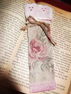 Handmade Vintage Decoupage and Lace Bookmarks - Victorian Upcycled | eBay