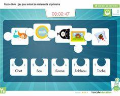 Puzzle-Mots : associer images et mots (petit jeu de vocabulaire pour les élèves !) Puzzles, Short Film, Your Child, Board Games, Literacy, Parents, Images, Children, School