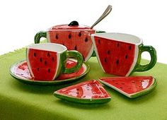 Watermelon coffee set