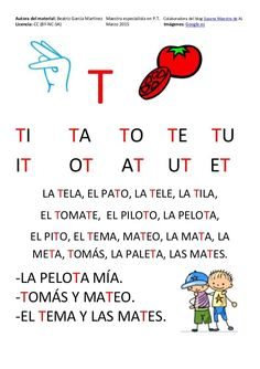 Cartilla de Lectura en Mayúsculas Spanish Lessons For Kids, Spanish Teaching Resources, Spanish Lesson Plans, Pin On, Pre Writing, Preschool Worksheets, Writing Activities, Phonics, How To Plan