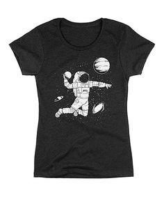 Another great find on #zulily! Heather Charcoal Space Dunk Fitted Tee #zulilyfinds