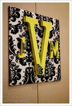 this could be so simple, use cardboard & batting then cover with fabric and add letters!
