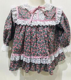 Vintage Bryan Floral Prairie Dress with Lace RuffleS Girls Sz 18 Months USA Made  | eBay Lace Ruffle, Ruffles, Lace Dress, Vintage Girls Dresses, Circle Dress, Baby & Toddler Clothing, 18 Months, Boy Outfits, Usa