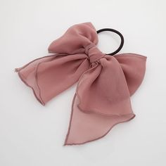 Hair Accessories Chiffon solid color bow knot hair tie elastic ponytail holder for women - chiffon bow knot ponytail holder Solid color with half-transparent fabric Size of hair bow (Length*Height) : * cm * 8 cm Length of tail : 14 cm Hair Accessories For Women, Fashion Accessories, Trendy Accessories, Women Jewelry, Accesorios Casual, Twist Headband, Ponytail Holders, Hair Tie Holder, Chiffon