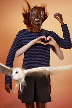 Ryan McGinley photographs birds of prey for Edun