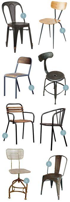 Comme le titre de cet article l'indique, j'ai préparé une sélection de 16 chaises pour s'intégrer à une déco industrielle… Mais pas seulement ! Si chacune de ces chaises nagent bien évidemment comme un poisson dans l'eau dans un intérieur indus', pour la plupart elles sont tout aussi à l'aise dans un intérieur d'inspiration scandinave, vintage ou encore bohème… Bref, les styles qui font bon ménage avec l'éclectisme.