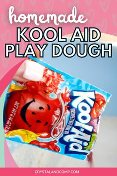The easiest and best smelling play dough on the planet. Make this in your kitchen with your kids in 5 minutes! #playdough #homemadeplaydough #activitiesforkids Koolaid Playdough, Homemade Playdough, Play Dough, Kool Aid, Activities For Kids, Kitchen, How To Make, Food, Cooking