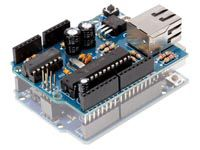 Velleman VMA04: Ethernet Shield for Arduino  Configure your Arduino as a simple web server or let it get data from the worldwide web.
