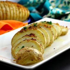Vegan Hasselback Potatoes - Lydia's Flexitarian Kitchen