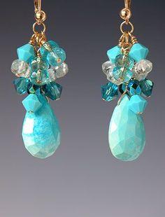 Beaded earrings by Kay Bonitz