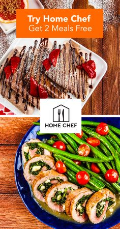 Put your apron on today! With Home Chef, we'll deliver all of your dinner ingredients + step-by-step recipes right to your doorstep for as little as $9.95 per meal. No funny business, just delicious meals and stress-free dinners. :) Click on the image to get started!