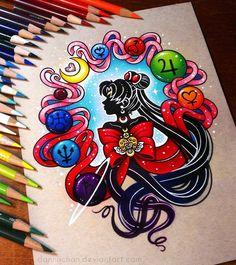 Sailor Moon Silhouette - Commission by danniichan.deviantart.com on @DeviantArt