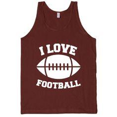 I Love Football (white font)