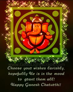Happy Ganesh Chaturthi Wishes Greeting Card Image & Picture in Hindi to Wish Happy Ganesh Chaturthi 2017 to Friends, Lovers & Family Member. Ganesh Chaturthi Quotes, Ganesh Chaturthi Greetings, Happy Ganesh Chaturthi Wishes, Happy Ganesh Chaturthi Images, Shri Ganesh Images, Ganesha Pictures, Ganesha Art, Lord Ganesha, Ganesh Wallpaper