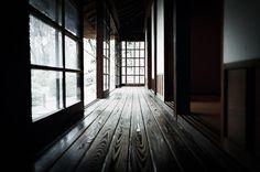 Dark floors with sliding doors