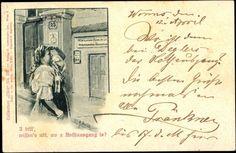 Ansichtskarte / Postkarte I bitt' wissen's nöt,Rheinland Pfalz, Frau in Tracht 1898 #Oberrhein