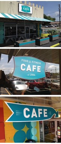 Food for Fitness Cafe Logo Family Castle Hill Gym Healthy To Go Pre Packed Gluten Soy Dairy Vegan Vegetarian Free Meals Signage