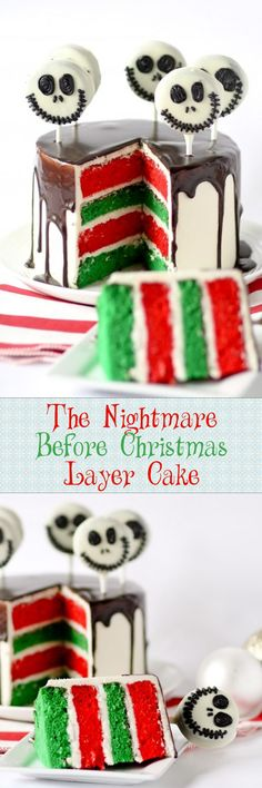 The Nightmare Before Christmas Layer Cake -- this cake is so FUN! Love the bright inside.