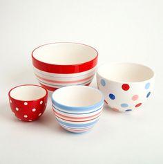 Berry Sweet Ceramic Prep Bowls