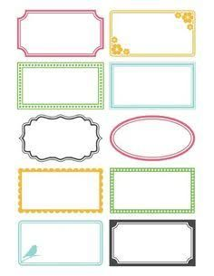 Image result for Design ideas for making labels on craft containers