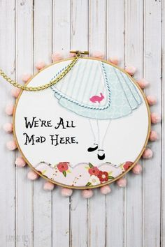 Wonderland Embroidery Hoop Set -