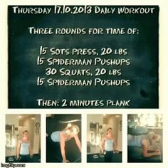 Thursday 17.10.2013 daily workout
