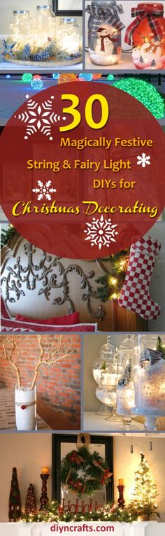 #Decorating with lights for #Christmas is a tradition. How you use those lights however, is entirely up to you. I've found a great collection of 30 unique ways to use string and fairy lights when you're decorating this #Holiday season. via @vanessacrafting