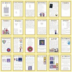 We Believe LDS Quiet Book Printable