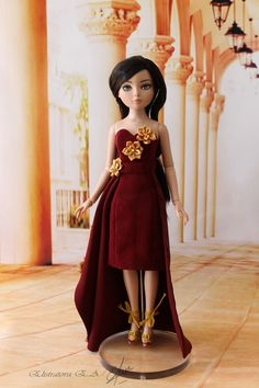 """Handmade gown/dress/outfit for Tonner Doll with Ellowyne body 16"""" in Dolls & Bears, Dolls, Clothes & Accessories, Modern, Other Modern Doll Clothing 