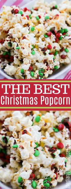 This Christmas Popcorn is the perfect Christmas treat. We serve it every year during our Christmas movie night and it's a favorite with the entire family. Christmas Popcorn, Christmas Snacks, Christmas Recipes, Christmas Ideas, Xmas Food, Christmas Cookies, Holiday Ideas, Christmas Time, Merry Christmas