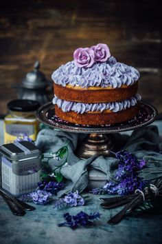 Lavender, Honey and Almond Cake - Sugar et al