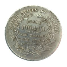1872 United States of America Trade Dollar Vintage Silver Coin Liberty 420 Grains 900 Fine  Antique Silver Dollar by BiminiCricket on Etsy