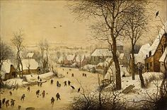 Winter Landscape with Skaters and Birds Trap - Google Arts & Culture