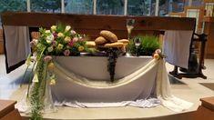 Altar Decorations, First Communion, Flower Arrangements, Wreaths, Blog, Home Decor, Party, Valentines Day Weddings, Church Altar Decorations