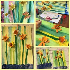 Spring in one picture , art with kids