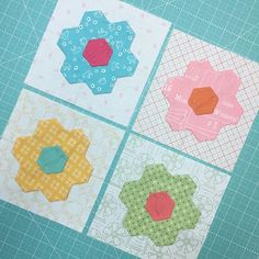 and welcome to my quilty world! We are officially one week away from the kick off date for the BEE HAPPY S. Hand Applique, Applique Quilts, Missouri Quilt Tutorials, Hexagon Quilt, Hexagons, Homemade Quilts, Bee In My Bonnet, Quilt Patterns, Block Patterns