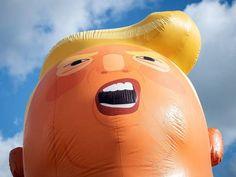 El poder del humor y la diversión para cambiar las cosas Donald Trump Baby, Tulsa World, Helium Filled Balloons, Baby Balloon, Trump Protest, Black Church, Singles Events, Bunker, Rally