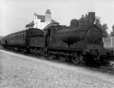 BR ex-LMS ex-CR Drummond, Lambie & McIntosh Jumbo Class 2F 0-6-0 57276 on a Ballachulish-Connel Ferry local passenger train at Appin, Argyll [2 September 1958]