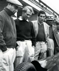 "Four icons: Fangio, Peter Collins, Alfonso de Portago, Luigi Musso The real ""gentelman drivers"""