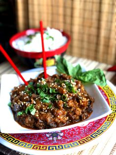 DDD – Spicy Vegan Chinese Eggplant – Better Than Take-Out! Chinese Eggplant, Spicy Eggplant, Eggplant Recipes, Asian Cooking, Vegetarian Cooking, Fruit Recipes, Asian Recipes, Vegan Dishes, Going Vegan