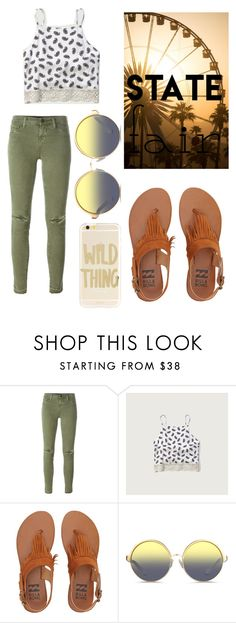 """""""☀️Fun At The State Fair☀️"""" by abby0307 ❤ liked on Polyvore featuring J Brand, Abercrombie & Fitch, Billabong, Matthew Williamson, Sonix, statefair and summerdate"""