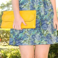 69% of women view fashion as a creative outlet. #tjmaxx #maxxexpression - yellow purse is a must for my wardrobe!
